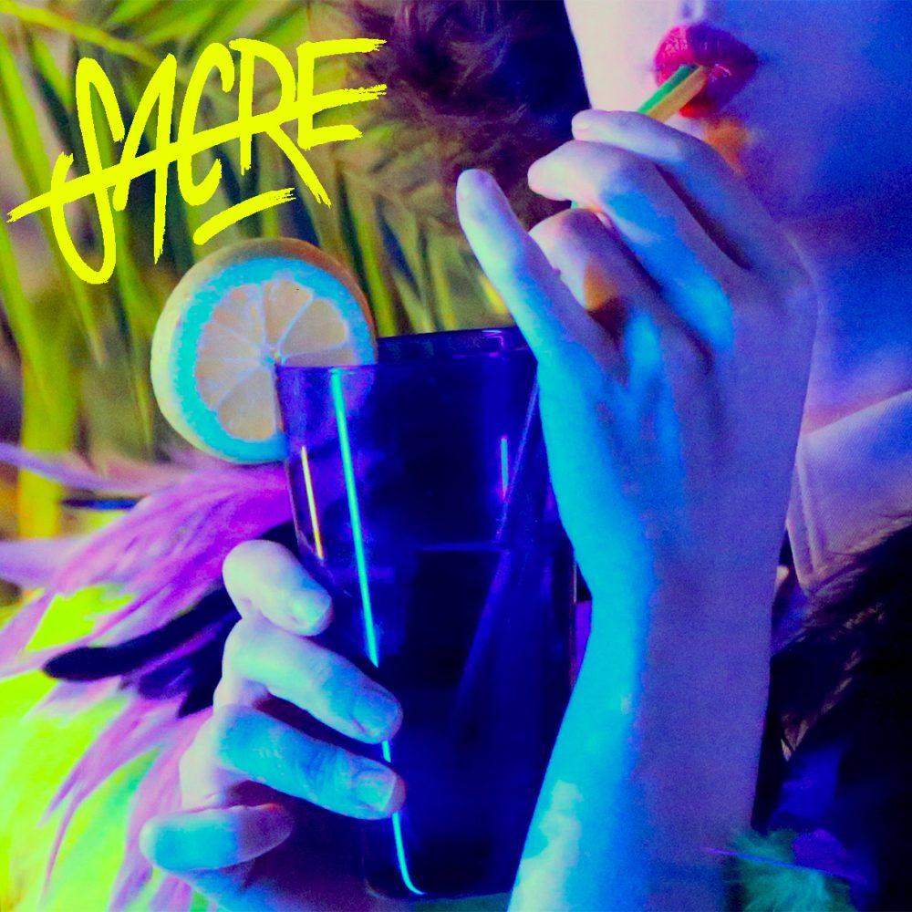 SACRE-SACRE Lemonade Artwork petit logo jaune dans le coin en haut a gauche